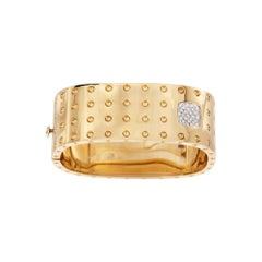 Roberto Coin Pois Moi Yellow Gold and Diamond Bangle Bracelet