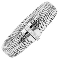 Roberto Coin Primavera 18 Karat White Gold Diamond Bracelet