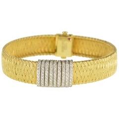 Roberto Coin Primavera Diamond Gold Bracelet