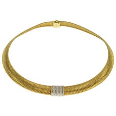 Roberto Coin Primavera Diamond Gold Choker Necklace