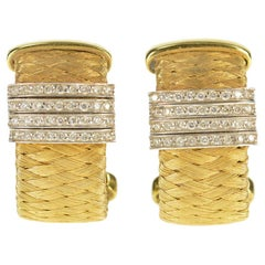 Roberto Coin Primavera Diamond Gold Earrings