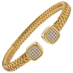 Roberto Coin Primavera Flex Gold Diamond Bracelet