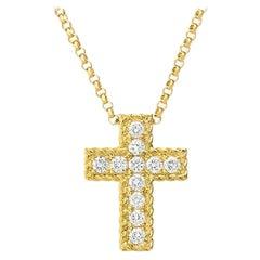 Roberto Coin Princess Diamond Cross Necklace 7771625AY18X