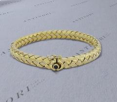 Roberto Coin Roberto Coin 18 Carats Yellow Gold Silk Flexible Bangle Bracelet