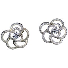 Roberto Coin Rose Diamond Earrings