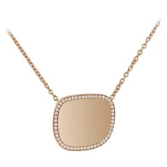 Roberto Coin Rose Gold and Diamond Necklace 8882424AX17X