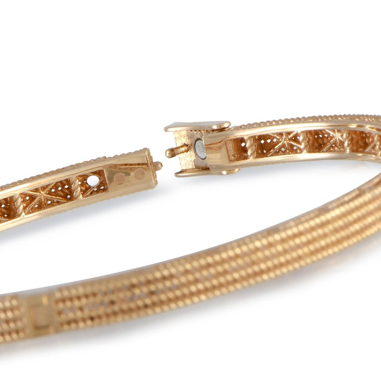 Roberto Coin Symphony Barocco 18 Karat Rose Gold Bangle Bracelet In New Condition In Southhampton, PA
