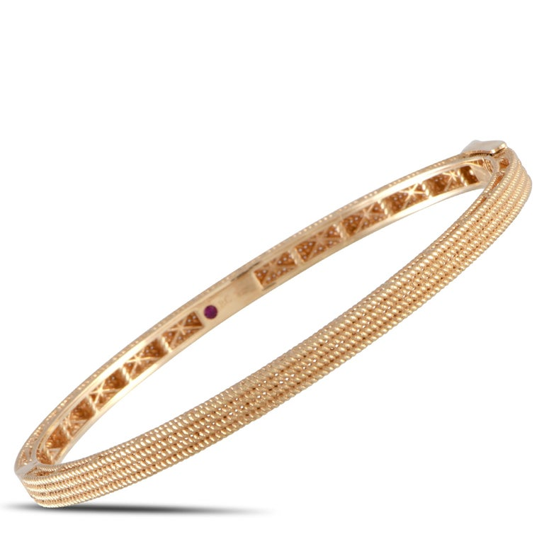 Women's Roberto Coin Symphony Barocco 18 Karat Rose Gold Bangle Bracelet