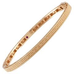 Roberto Coin Symphony Barocco 18 Karat Rose Gold Bangle Bracelet