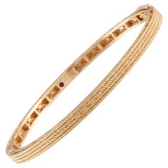Roberto Coin Symphony Barocco Rose Gold Bangle Bracelet