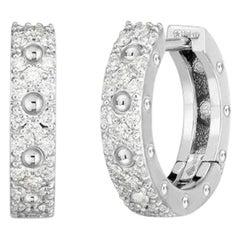 Roberto Coin Symphony Diamond Hoop Earring 7772068AWERX