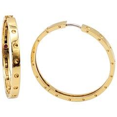 Roberto Coin Symphony Pois Moi Gold Hoop Earrings