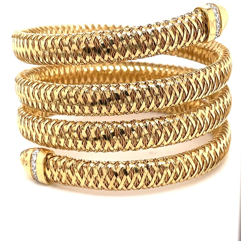 Roberto Coin Tubogas Snake Bracelet 18 Karat Yellow Gold 50.5 Grams For Sale 5