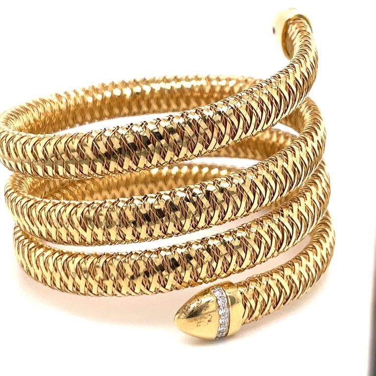 Roberto Coin Tubogas Snake Bracelet 18 Karat Yellow Gold 50.5 Grams For Sale 6