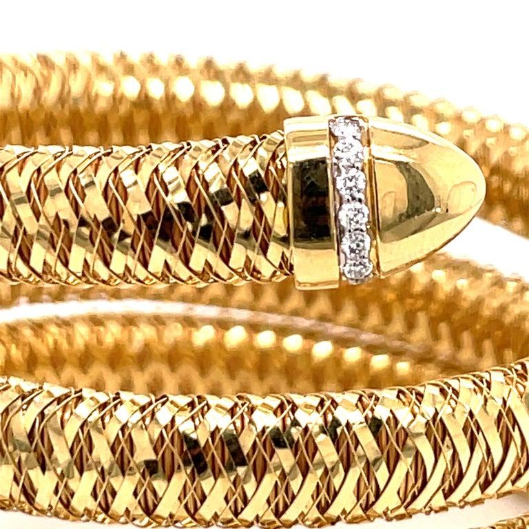 Roberto Coin Tubogas Snake Bracelet 18 Karat Yellow Gold 50.5 Grams For Sale 1