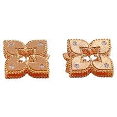 Roberto Coin Venetian Princess Rose Gold Diamond Earrings