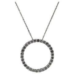 Roberto Coin White Gold 1.33 Carat Round Diamond Pendant Necklace