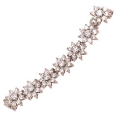 Roberto Coin White Gold Diamond Flower Bracelet
