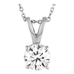 Roberto Coin White Gold Diamond Pendant Necklace