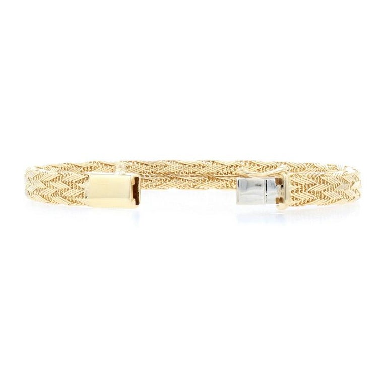 Roberto Coin Woven Silk Bracelet Yellow Gold, 18 Karat Women's Designer For Sale 1