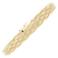 Roberto Coin Woven Silk Bracelet Yellow Gold, 18 Karat Women's Designer