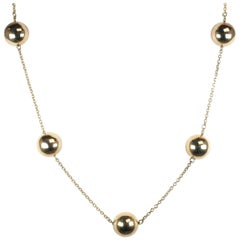Roberto Coin Yellow Gold Necklace with Gold Balls