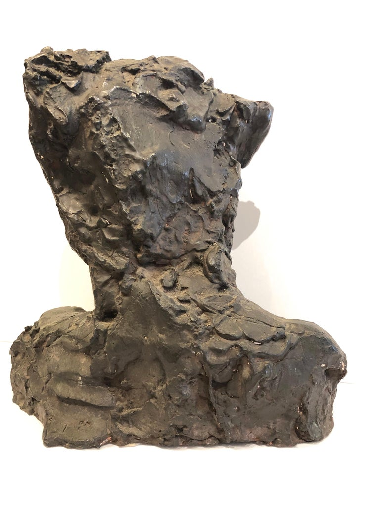 Bronze sculpture Woman Bust. Bronze with dark brown patina signed on the back R. Cortazar 1/9. Originally from Tapachula, Chiapas Mexico, he was born in 1962 into a family dedicated directly or indirectly to arts and crafts. His deep artistic