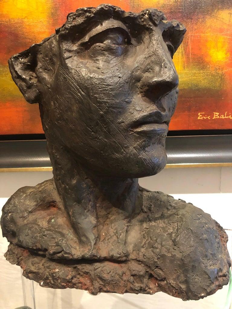 Bust Of A Woman - Sculpture by Roberto Cortazar