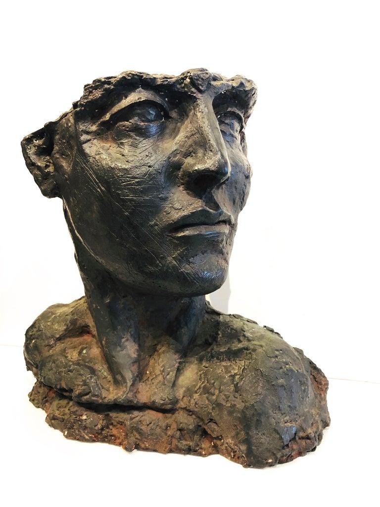 Bust Of A Woman - Modern Sculpture by Roberto Cortazar