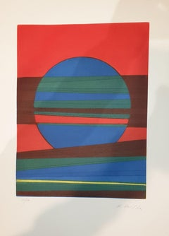 Plate III from Suns/Landscapes - Original Etching by R. Crippa - 1971/72