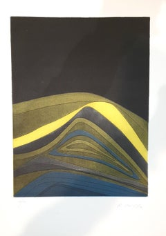 Plate IV from Suns/Landscapes - Original Etching by R. Crippa - 1971/72