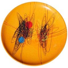"Roberto Crippa ""Spirale"" 1950 Ed. Galleria Pace Ceramic Plate 3/20"