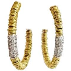 Roberto Demeglio Joy Collection Diamond Hoop Earrings