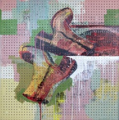 San Francisco shoes, 2013, One of Kind Mixed Media