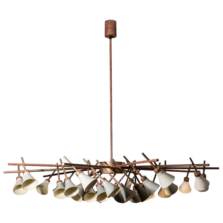 Roberto Giulio Rida Chandelier, Important Luster, Signed, circa 2010, Italy For Sale