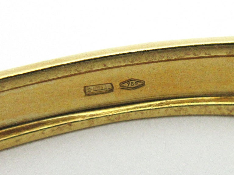 Roberto Legnazzi Diamond and Colored Stone Cuff 18 Karat Yellow Gold 2