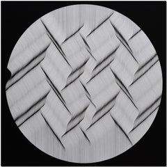 Bianco Nero 2018 - Geometric abstract painting