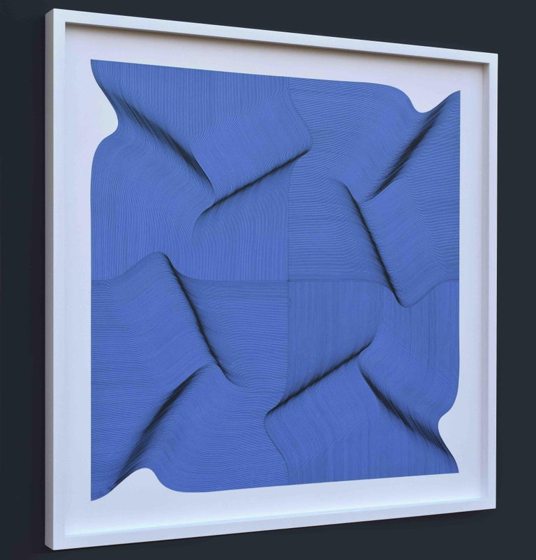 Dynamic Surface 2020 - Geometric Abstract - Abstract Geometric Painting by Roberto Lucchetta