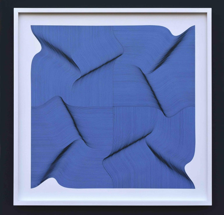 Roberto Lucchetta Abstract Painting - Dynamic Surface 2020 - Geometric Abstract