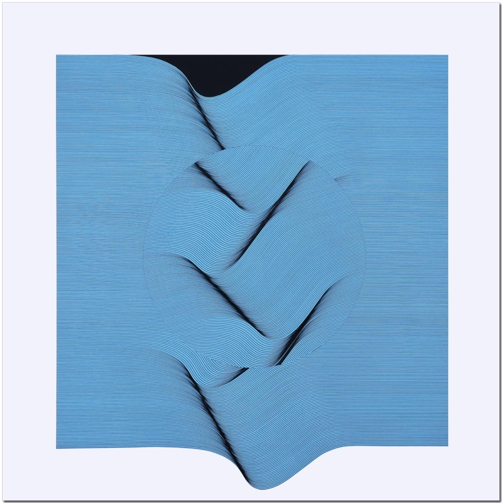 Light blue surface - geometric abstract painting