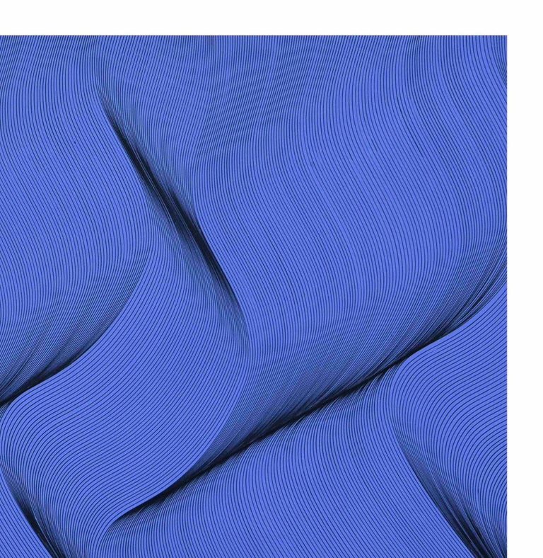 Movement in Blue - abstract painting For Sale 1