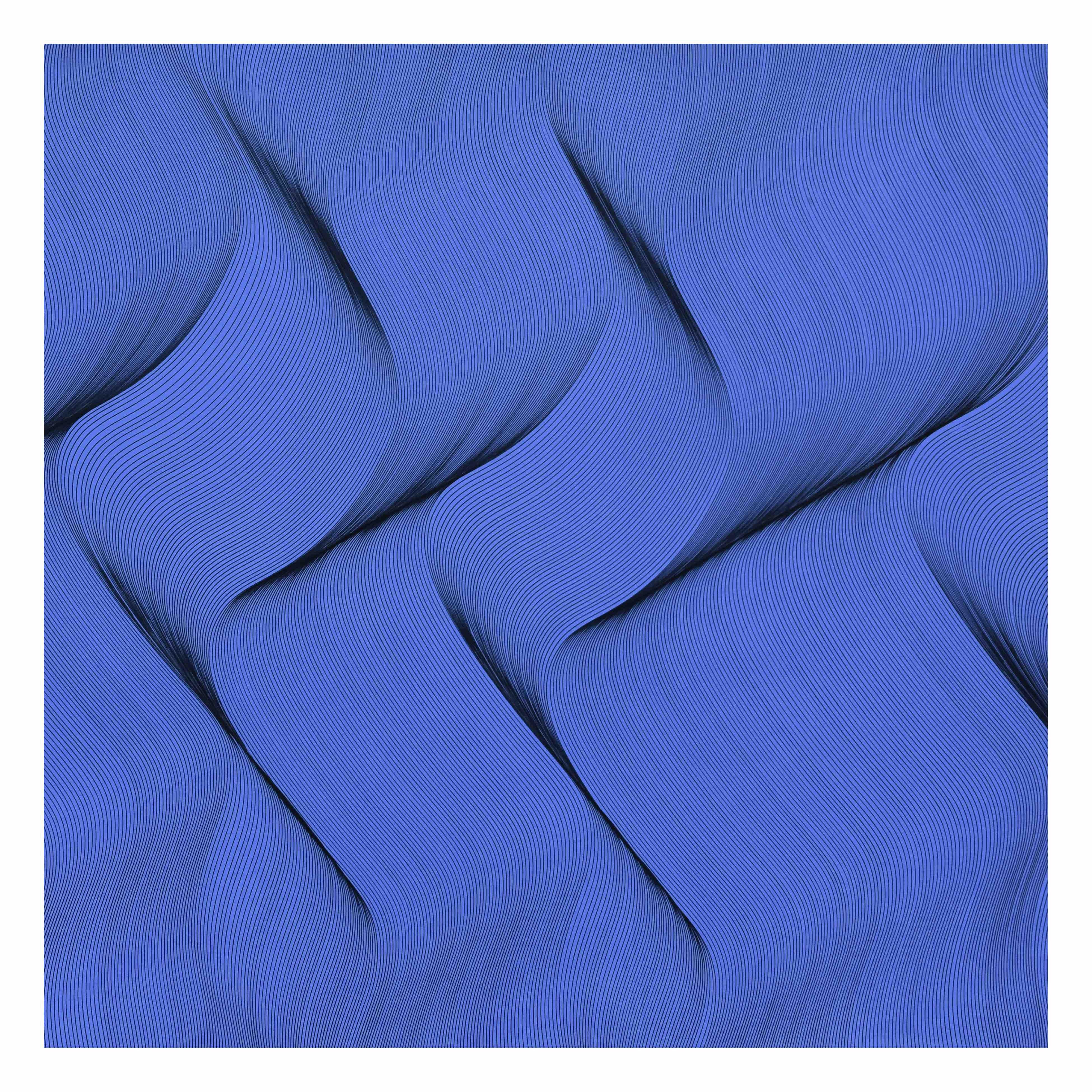 Movement in Blue - abstract painting