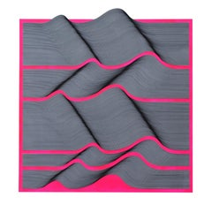Pink Fluo 2020  - geometric abstract painting