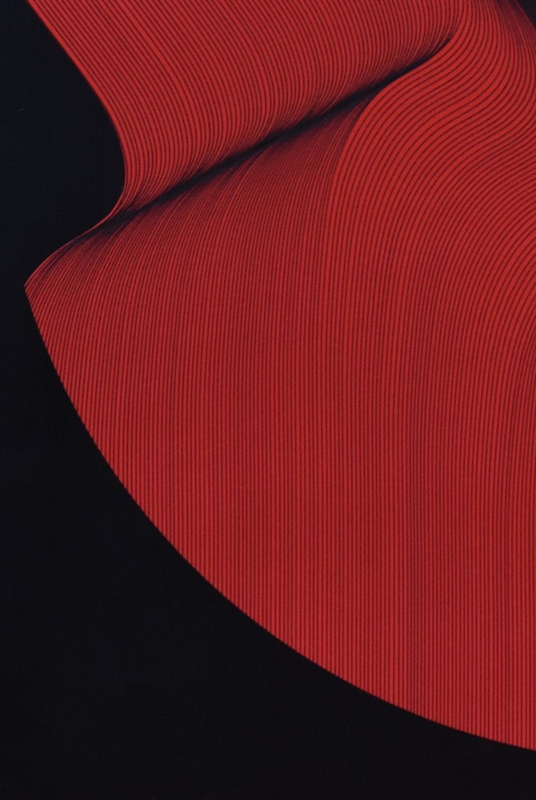 Rosso Nero - geometric abstract painting - Painting by Roberto Lucchetta