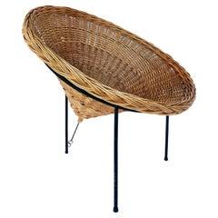 Roberto Mango '50s Sunflower Wicker Cone Basket Chair