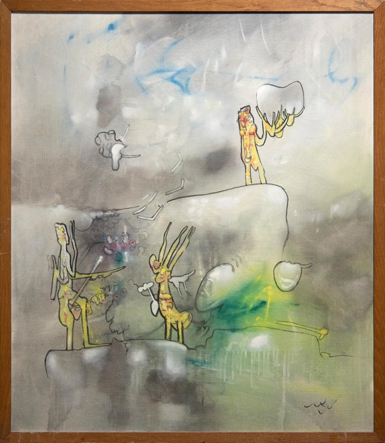 L'epreuve - Painting by Roberto Matta