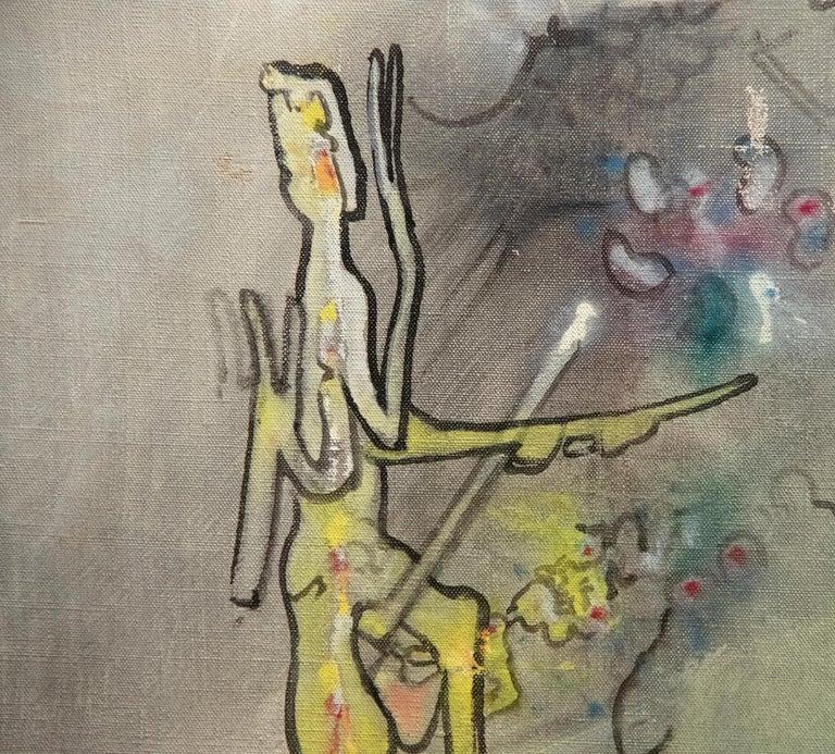 L'epreuve - Surrealist Painting by Roberto Matta