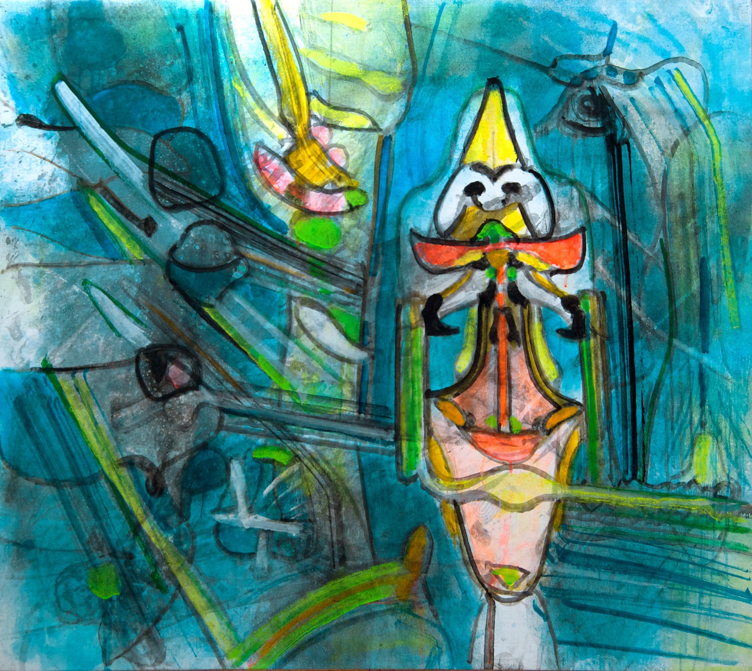 Untitled - Oil on Canvas by Roberto Sebastian Matta - 1996