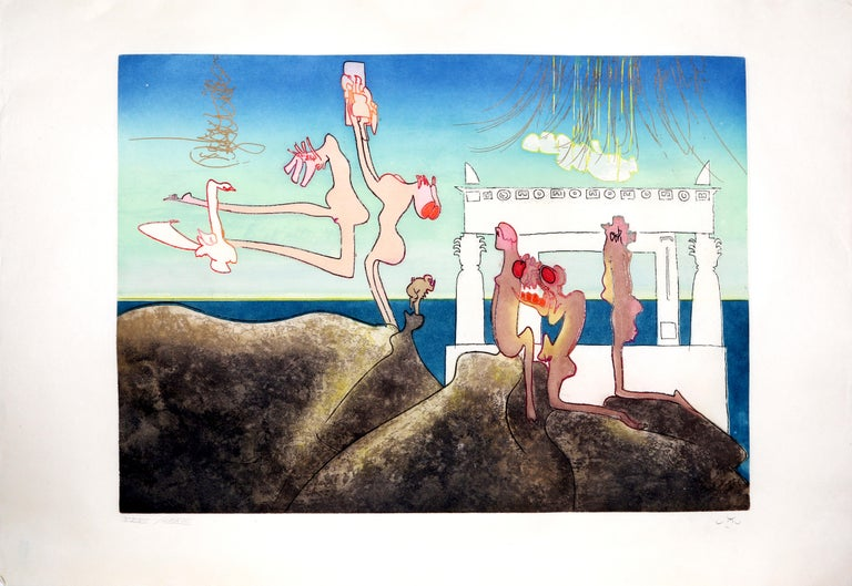 Roberto Matta Figurative Print - 10 AM from L'Arc Obscur des Heures