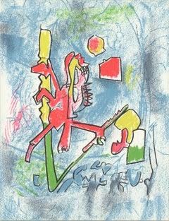 1975 Roberto Matta 'T'ou't se tient' Contemporary France Lithograph